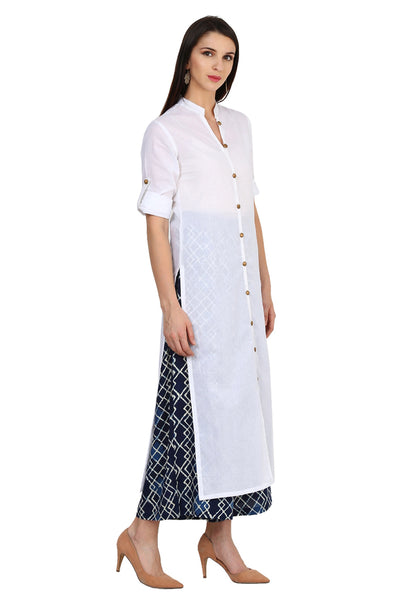 Castle White Solid Cotton Kurta - Castle Lifestyle