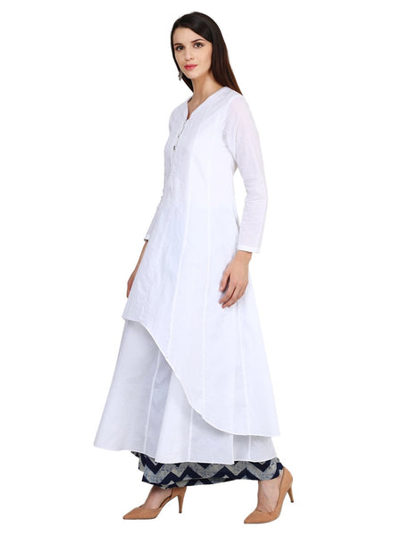 Castle White Cotton Kurta - Castle Lifestyle