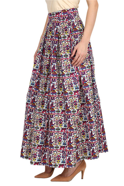 Castle Multicoloured Printed Rayon Skirt - Castle Lifestyle