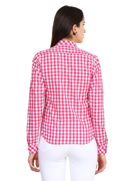 Castle White & Pink Checked Shirt - Castle Lifestyle