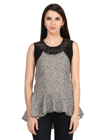 Castle Black Georgette Peplum Top