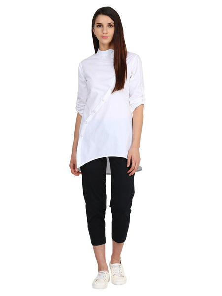Castle White Solid Cotton Tunic - Castle Lifestyle