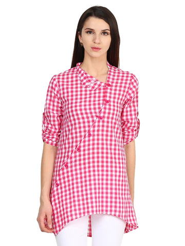 Castle White Checked Tunic