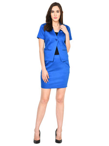 Castle Royal Blue Skirt and Coat Set