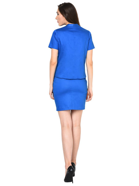 Castle Royal Blue Skirt and Coat Set - Castle Lifestyle
