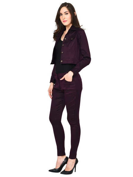Castle Wine Solid Pant and Jacket Set - Castle Lifestyle