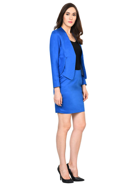 Castle Royal Blue Skirt and Blazer Set - Castle Lifestyle