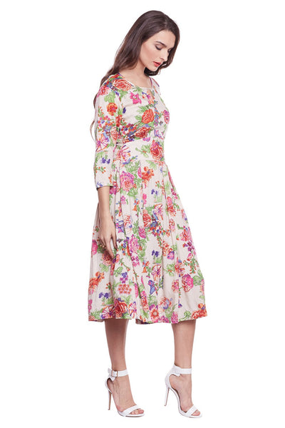 Castle Printed Rayon Dress - Castle Lifestyle