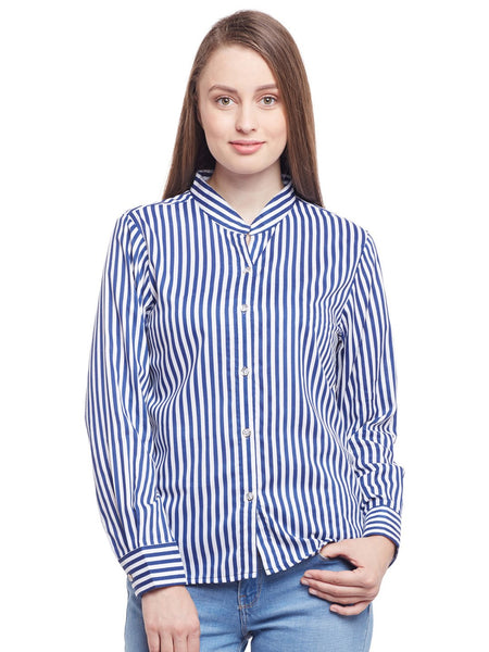 Castle Navy Blue Striped Shirt