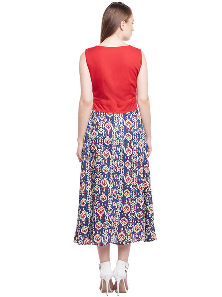 Castle Multicolored Printed Rayon Dress