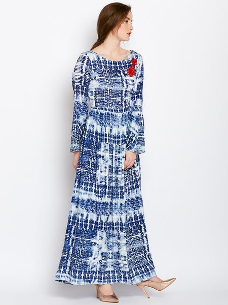 Castle Indigo Tie-Dye Rayon Dress - Castle Lifestyle