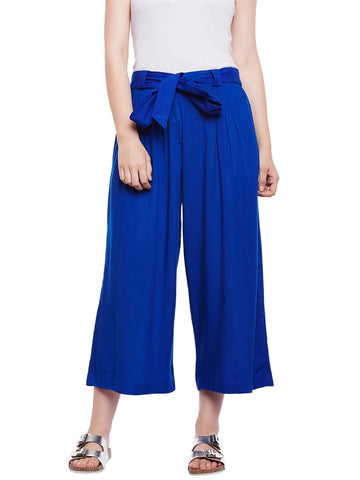 Castle Royal Blue Rayon Culottes