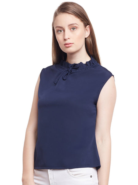 Castle Navy Blue Solid Top