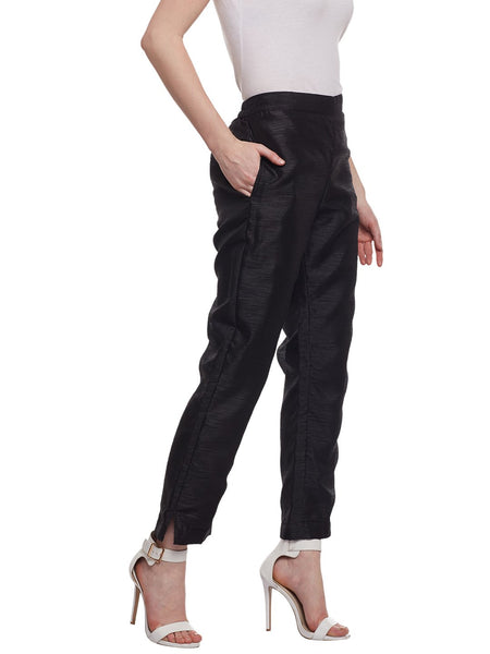 Castle Black Raw Silk Pant - Castle Lifestyle