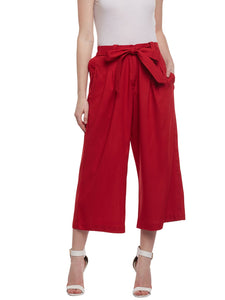 Castle Red Rayon Culottes
