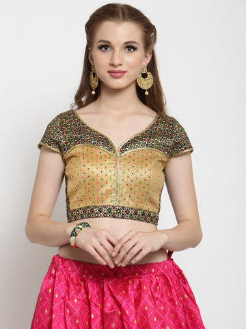 Castle Multicoloured Embellished without Padded Saree Blouse