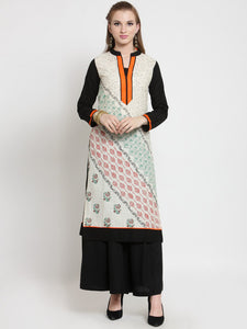 Castle Off-White Khadi Printed Kurta