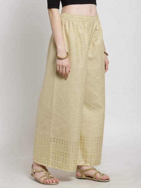 Castle Fawn Printed Cotton Slub Sharara