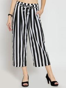Castle Black Stripes Crepe Culottes