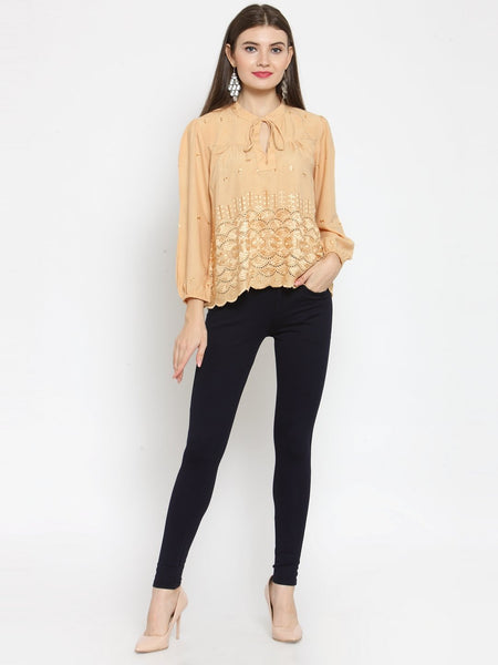 Castle Fawn Self Design Rayon Top - Castle Lifestyle