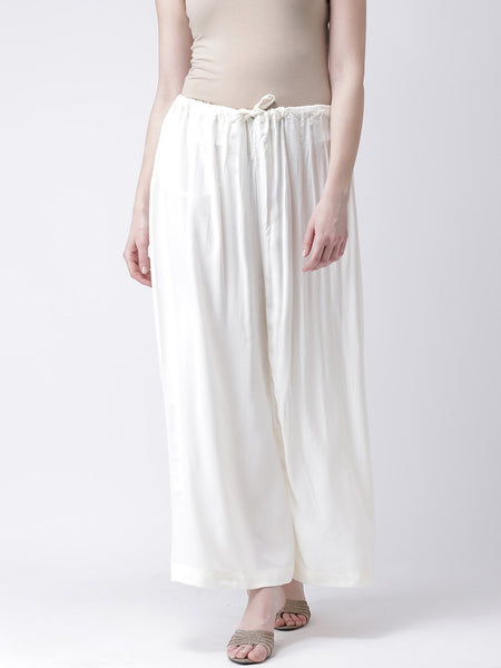 Castle Off-White Solid Rayon Sharara