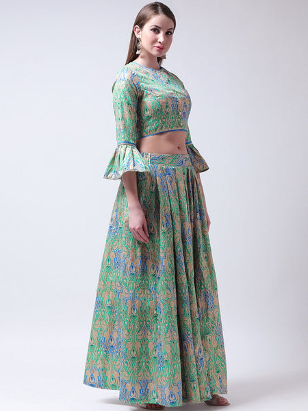 Castle Multicoloured Lehenga with Front Open Blouse