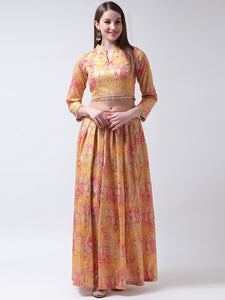 Castle-Multicoloured-Lehenga-with-Collar-Blouse