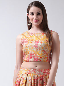 Castle Yellow Banglori Silk Dori Blouse