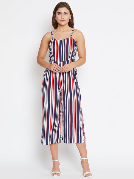 Castle Blue and White Stripes Jumpsuit