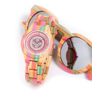 "Wooden Watch ""Colorful"" - Women"