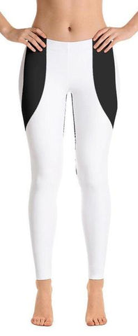 Black Heart Shaped White Leggings