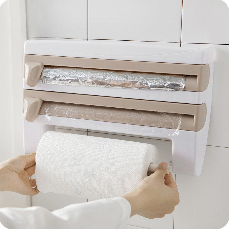 4 IN 1 Mounted Kitchen Roll Dispenser-Gift-Hut