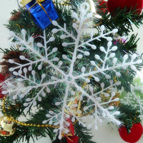 Image of Christmas Tree Decorations 6cm Snowflakes - 30pcs-Gift-Hut