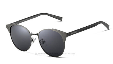 Unisex Retro Aluminum Polarised Sunglasses - 6109