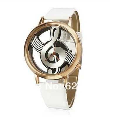 Image of Musical Note Style leather Skeleton Watch-Gift-Hut