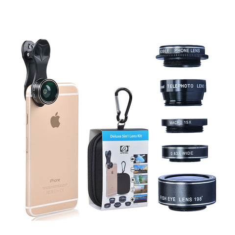 Image of 5 in 1 HD Phone Camera Lens Kit-Gift-Hut