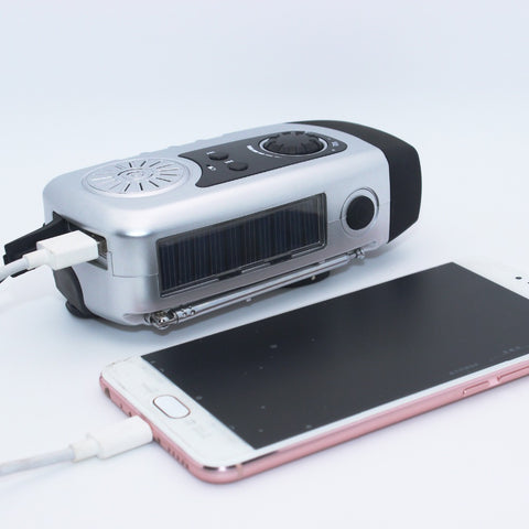 Image of Solar Powered FM Radio, Flashlight & Charger-Gift-Hut