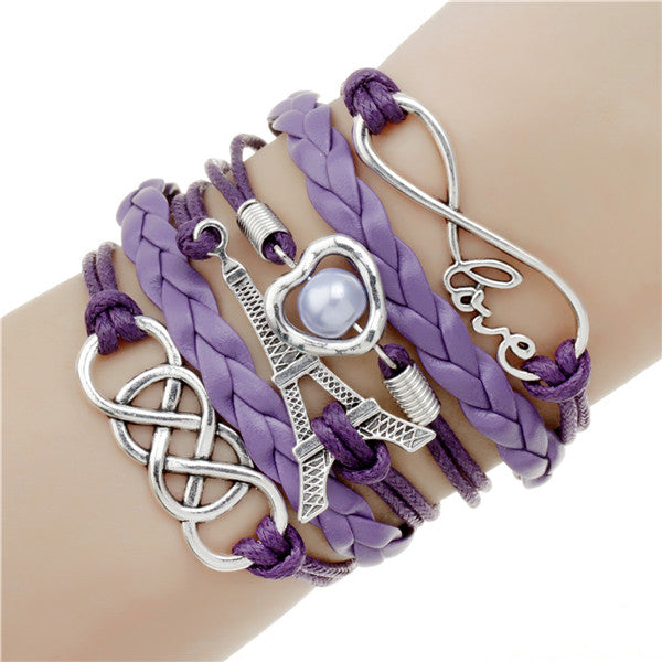 Infinite double leather multi-layer Charm bracelet-Gift-Hut