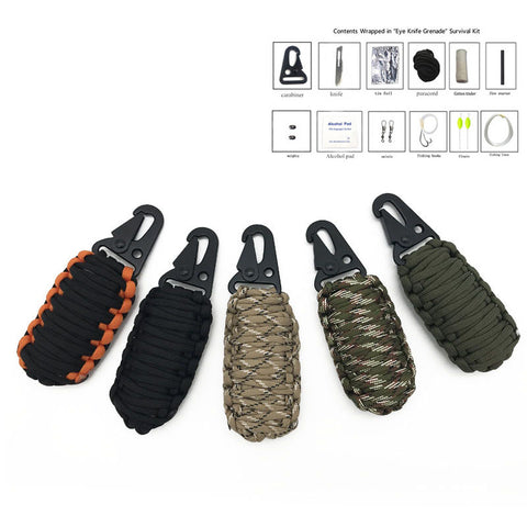 Image of Outdoor Survival Kit Paracord Fishing Tools-Gift-Hut