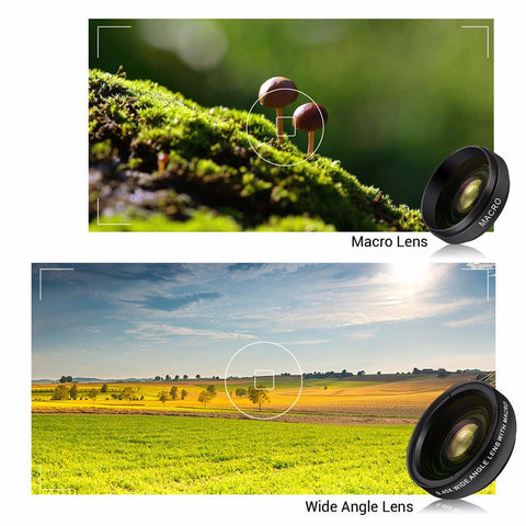 2 in 1 HD Phone Camera Lens Kit-Gift-Hut