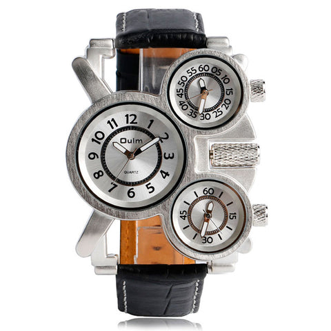 Image of Steampunk Three Dial Wrist Watch-Gift-Hut