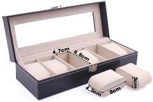 Leather 6 Slot Watch Display Box