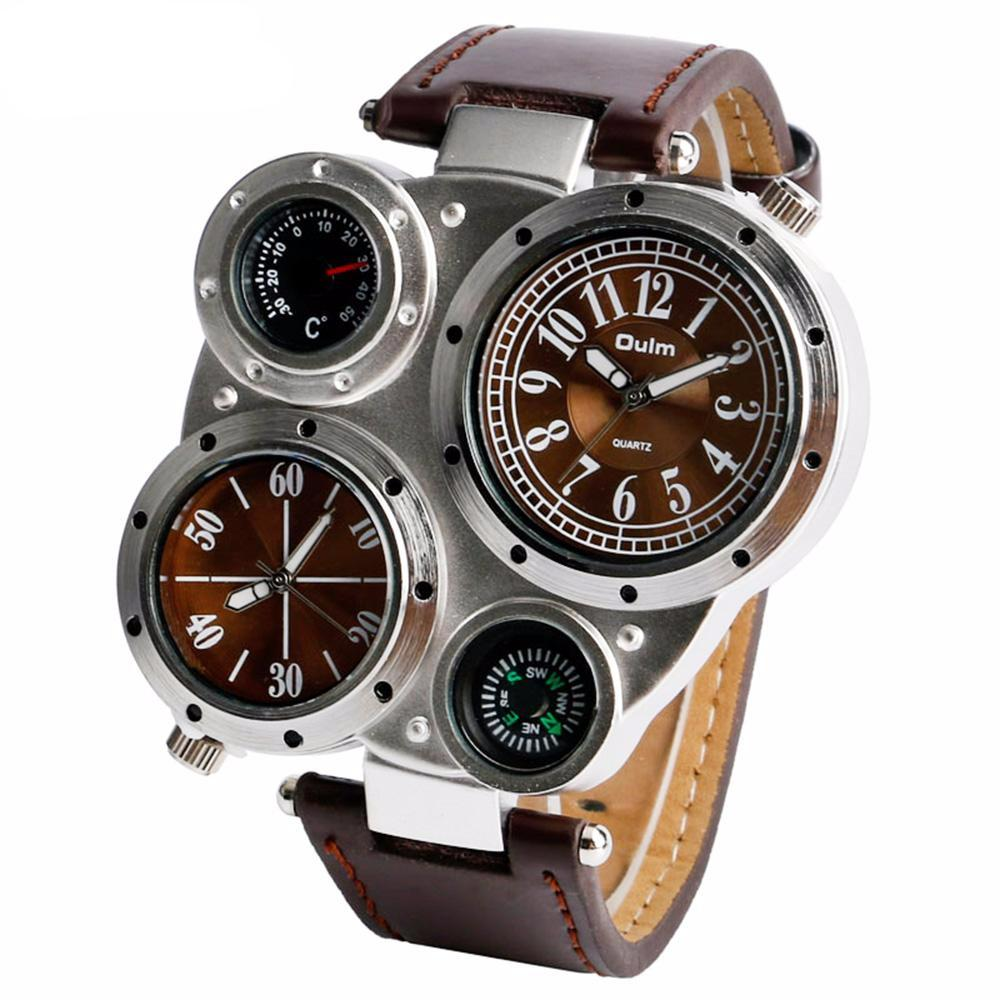 Compass Thermometer Four Dial Steampunk Wrist Watch-Gift-Hut