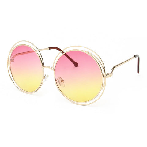 Image of Elli Round Wire Frame Sunglasses-Gift-Hut