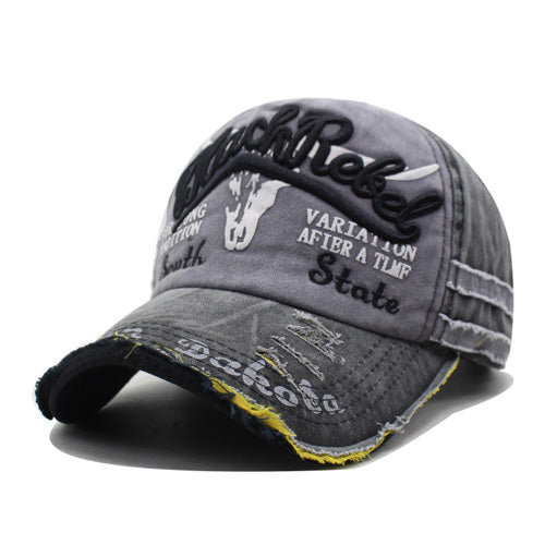 Embroidered Baseball Cap - Black / Gray-Gift-Hut