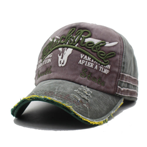 Embroidered Baseball Cap - Green / Coffee