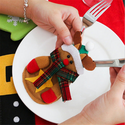 3Pcs Christmas Cutlery Decorations-Gift-Hut