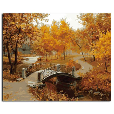 DIY Paint By Numbers -  Autumn Landscape