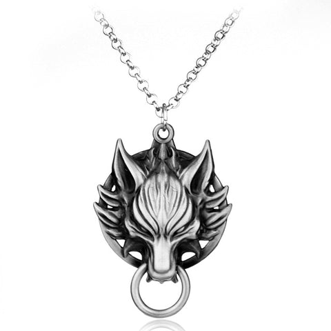 Image of Wolf Pendant Necklace-Gift-Hut