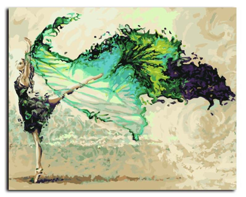 DIY Paint By Numbers - Abstract Dancer